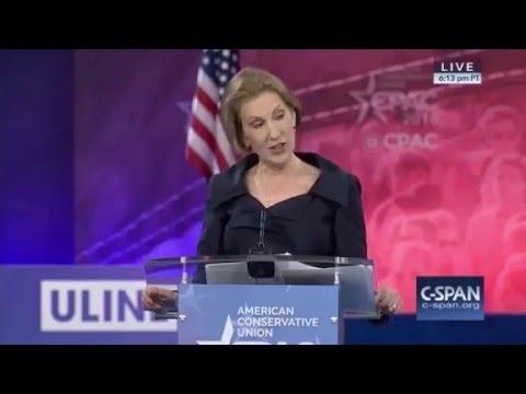 Carly Fiorina's speech at CPAC 2016.