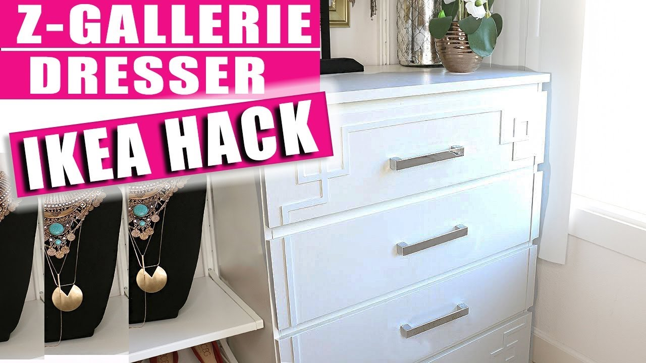 Ikea Malm Kommode Youtube Ikea Hack Malm Dresser With Overlays