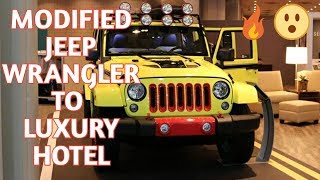 Jeep Wrangler MODIFIED to a LUXURY hotel room 2018 | super 8 / M8 |  [Car Guru]
