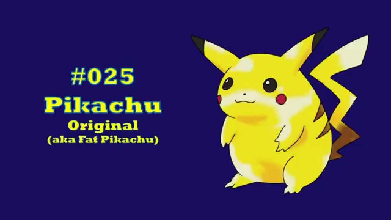 How To Draw 025 Pikachu Original Aka Fat
