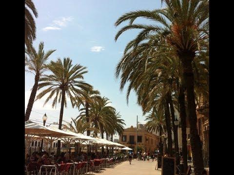 Waterfront in Badalona Barcelona 2014 Walking Summer June