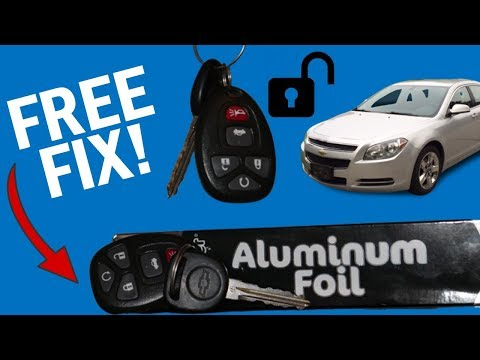How to Fix Unresponsive Chevy Key Fob for Free at Home | Chevy, Buick, Cadillac, GMC