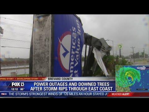 Hurricane Matthew hits Merritt Island