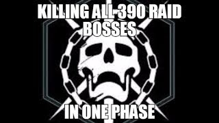 Destiny - Killing all 390 Raid Bosses in One Phase