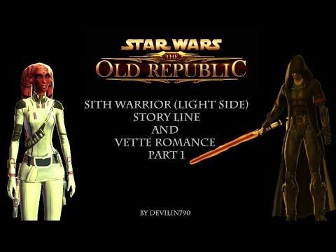 Star Wars The Old Republic: Sith Warrior (Light Side) Story Line And Vette Romance Part 1