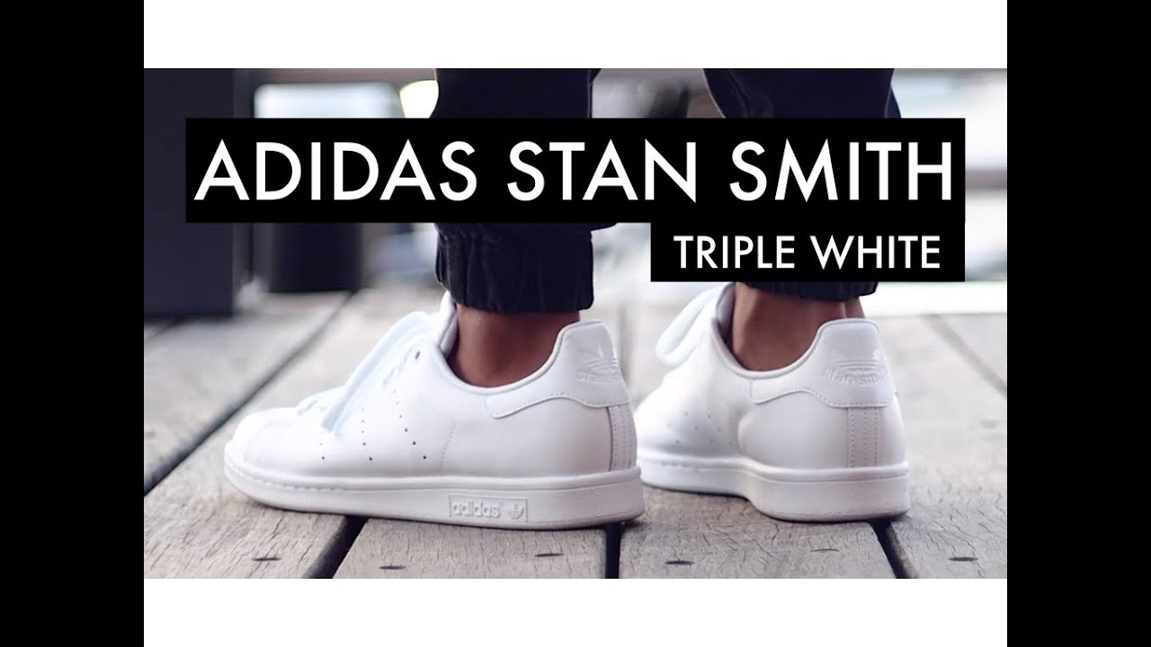 huge discount 8680f 9ced4 ADIDAS Stan Smith Triple White | On-Feet
