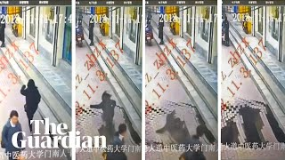Sinkhole swallows woman in China