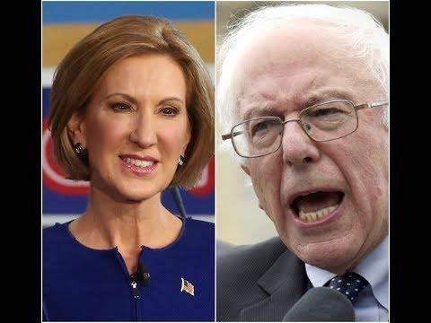 Alternate History 2016- Carly Fiorina vs Bernie Sanders