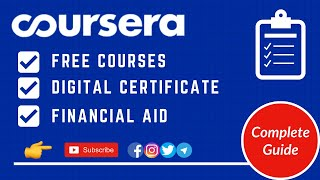 How to Enroll iฑ Coursera Free Courses | Free Certificate on Coursera Financial Aid | Complete Guide