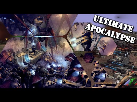 Tau VS The Tyrranid Hive: Ultimate Apocalypse Mod Gameplay