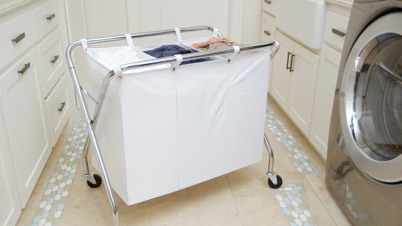 Laundry Sorter Heavy Duty 3 Bin