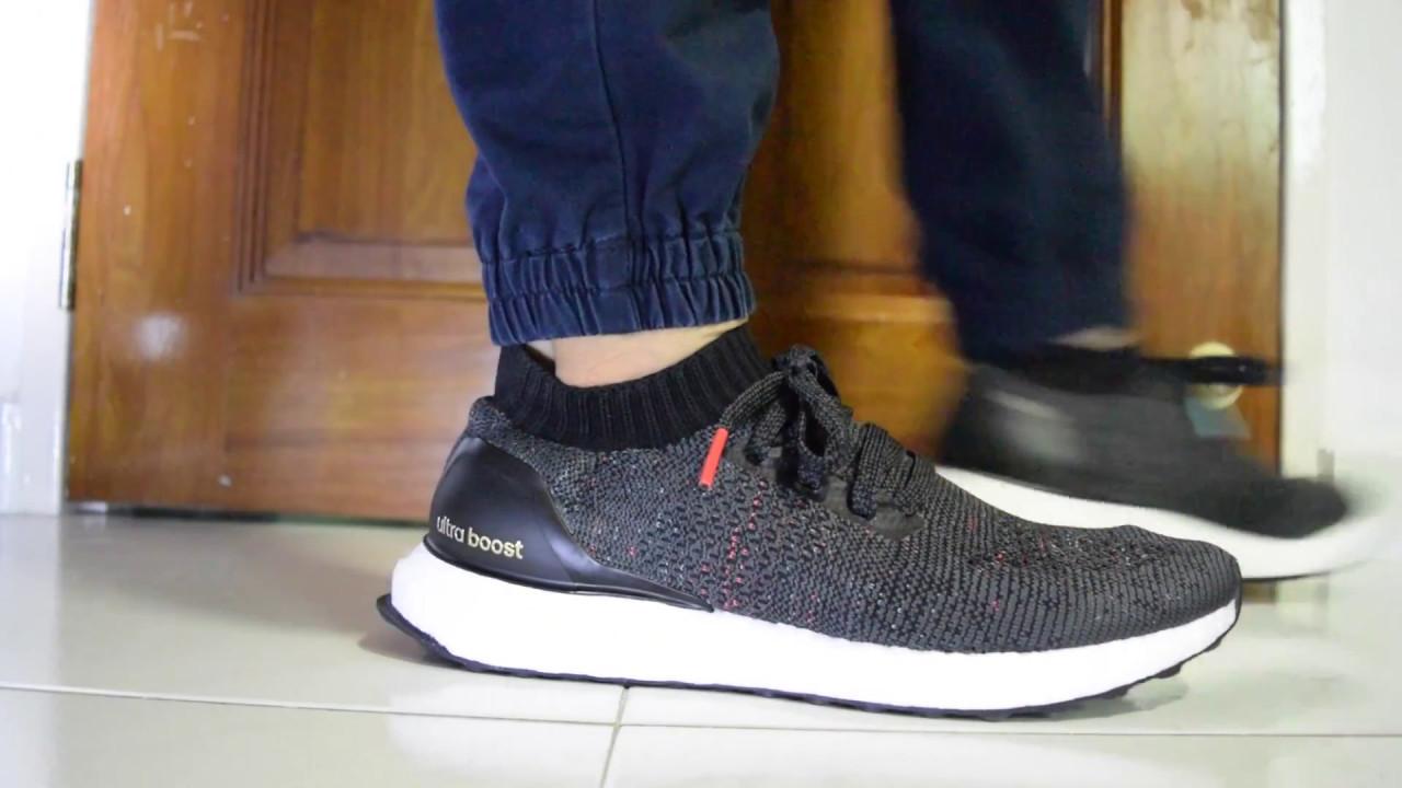 Adidas Ultraboost Uncaged On Feet Multicolor Black
