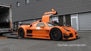 Gumpert Apollo Sport - Start Up and Loading in Apollo Truck