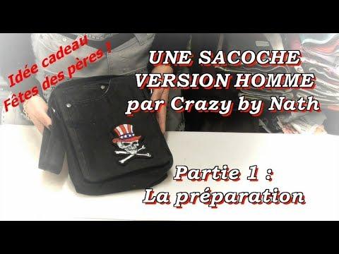 8fed34460f Une sacoche version homme - Partie 1 : La préparation - YouTube