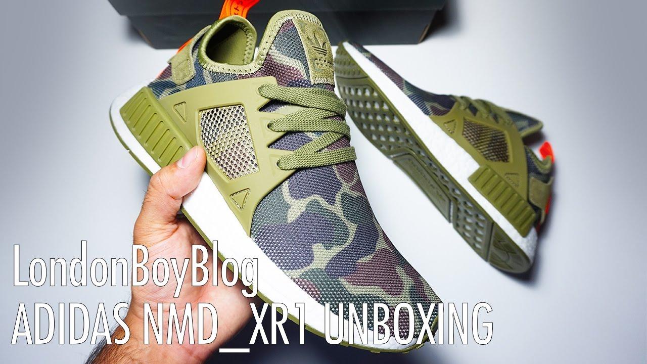 DS Adidas NMD XR 1 BA 7231 BLACK CAMO 8
