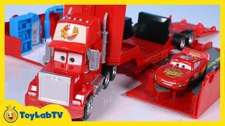 Disney Cars Mack Truck Playset Story Set and Radiator Springs Lightning McQueen Toys