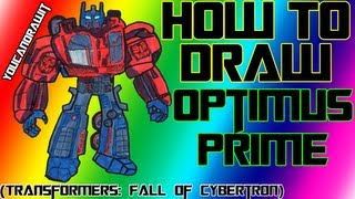 How To Draw Optimus Prime from Transformers: Fall Of Cybertron ✎ YouCanDrawIt ツ 1080p HD