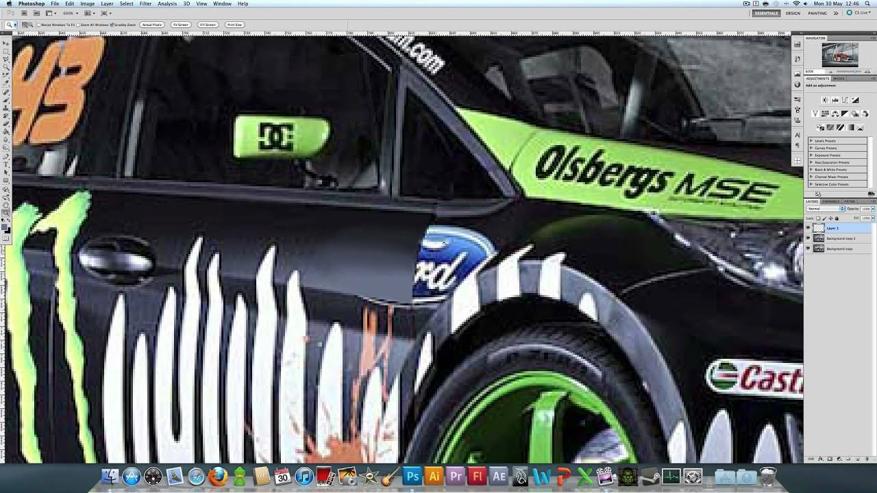 Removing car decals photoshop tutorial hd youtube