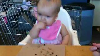 Ava Eating Swedish Meatballs At Ikea
