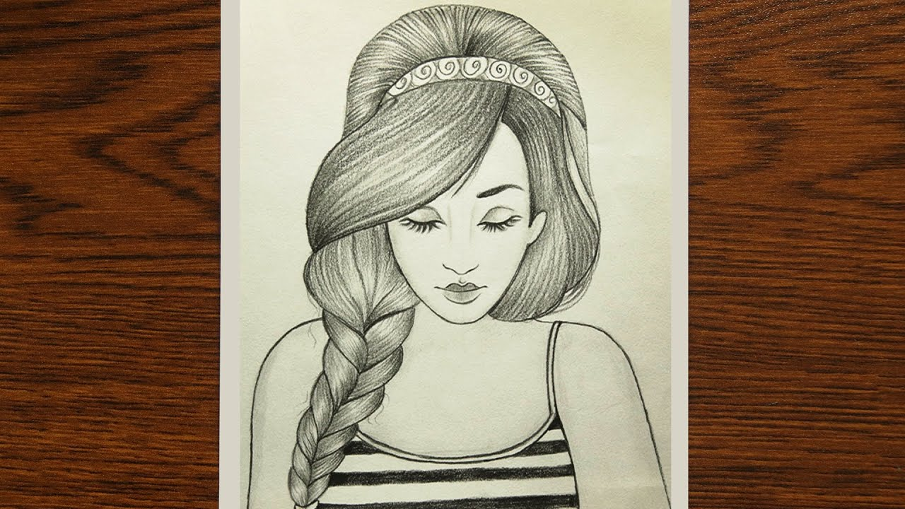 How To Draw A Beautiful Girl Very Easy Girl Drawing Easy Pencil Sketch Youtube Below is the collection of sketches drawn by a canadian artist, cameron mark. how to draw a beautiful girl very easy girl drawing easy pencil sketch