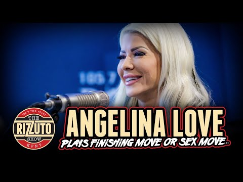 Does ANGELINA LOVE know her wrestling FINISHING MOVES? [Rizzuto Show]