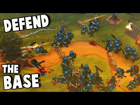 THEY'RE ATTACKING OUR BASE!  Defend the Fort!  (Guns Up Gameplay Part 2)