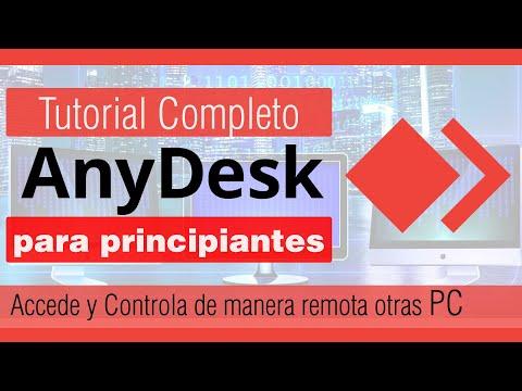 Tutorial de AnyDesk en español   como usar anydesk para controlar otra pc   acceso remoto 2021