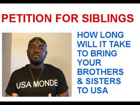 GREEN CARD FOR SIBLINGS PROCESSING TIME