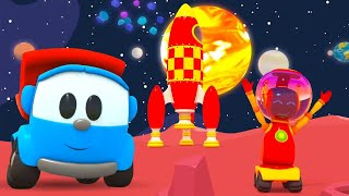 @Songs for Kids with Leo the Truck! A planet song for children. Educational cartoons for kids.