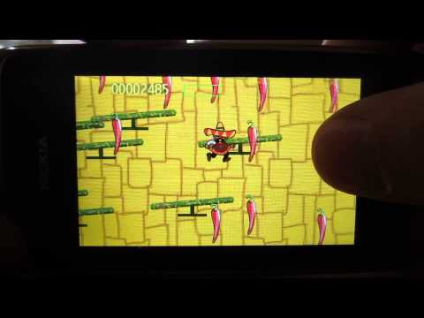 """Los Balancines"" game on Nokia Asha 309"