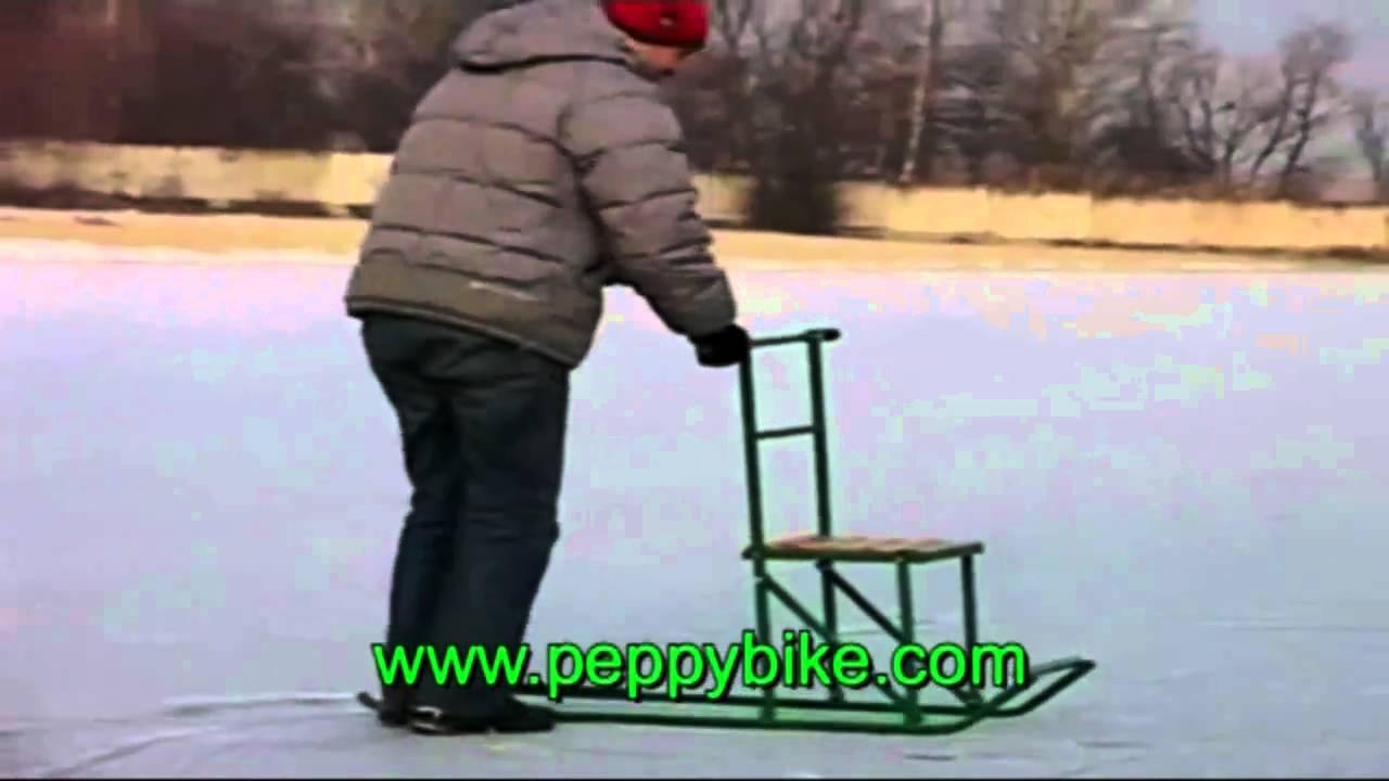 мото сани для рыбалки - YouTube