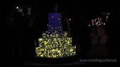 Wedding cake 3D video mapping  for the first time in India