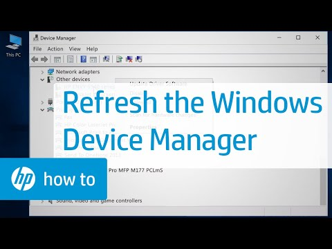 Refreshing The Windows Device Manager