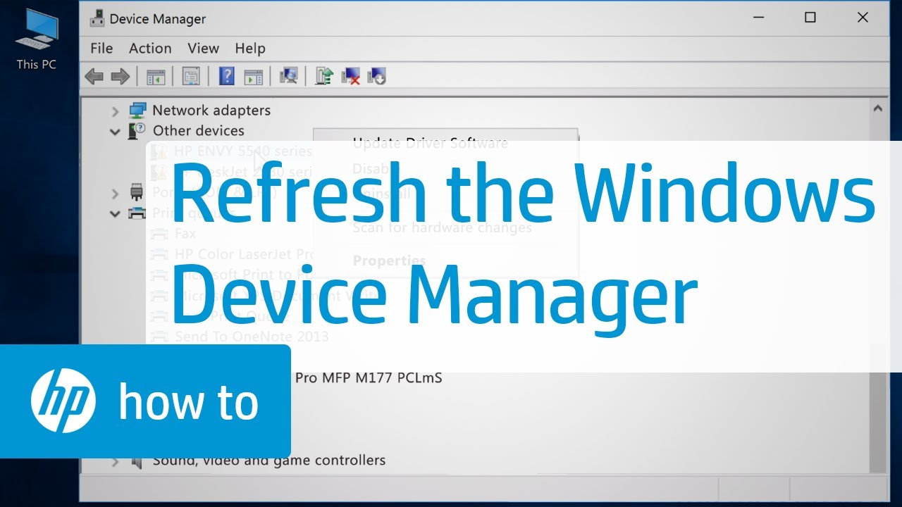 Refreshing the Windows Device Manager | HP Computers | HP