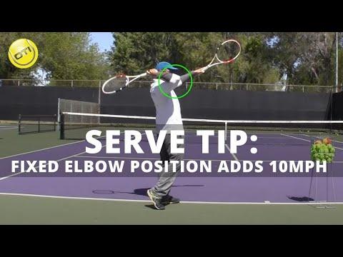 Tennis Serve Technique: Fix Your Elbow Position And Add 10mph