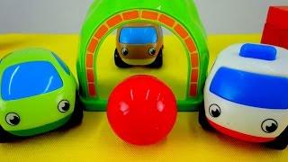 Мультики про машинки: Два друга! Машинки играют в футбол. Подвижные игры - Игры с мячом.