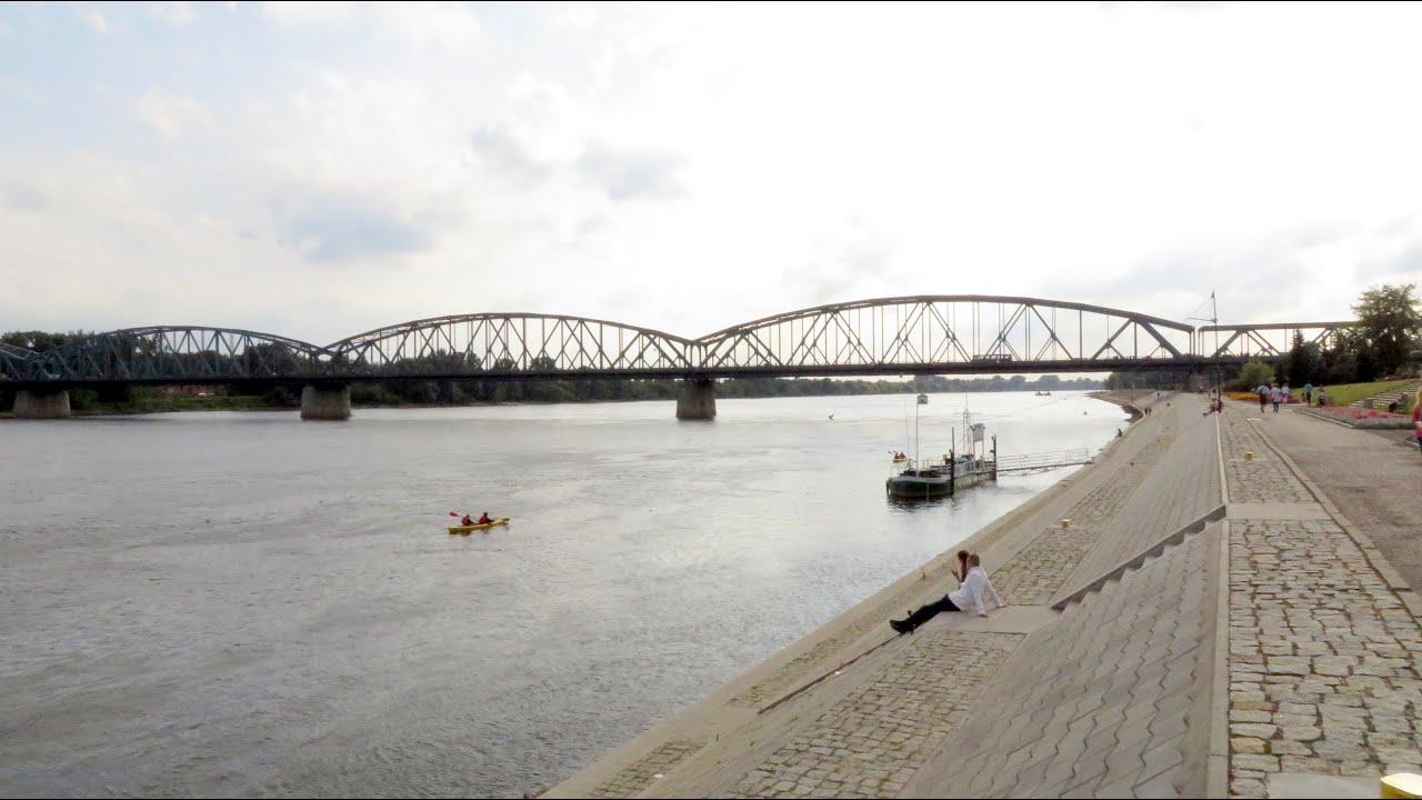 Vistula River, Toruń, Kuyavian-Pomeranian, Poland, Europe - YouTube