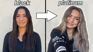 Black to Silver Hair Transformation