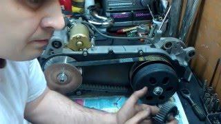 Двигатель 157QMJ (поршень 63мм-200сс), установка вторичного вала и обгонной шестерни(Шестерня редуктора покупалась здесь http://www.aliexpress.com/snapshot/7566070660.html., 2016-05-16T20:44:24.000Z)