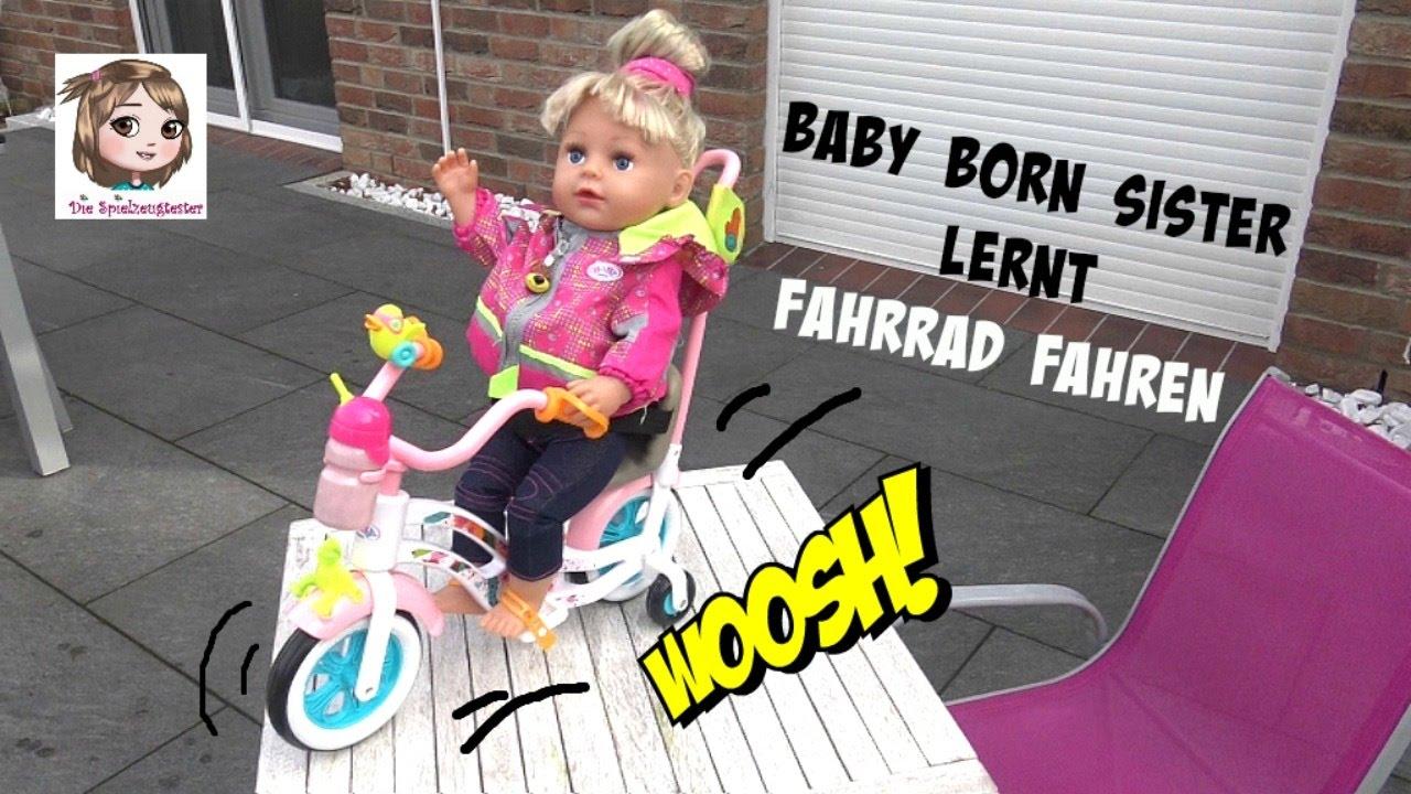 Baby Born Sister Cruised Mit Ihrem Neuen Bike Puppe Lernt