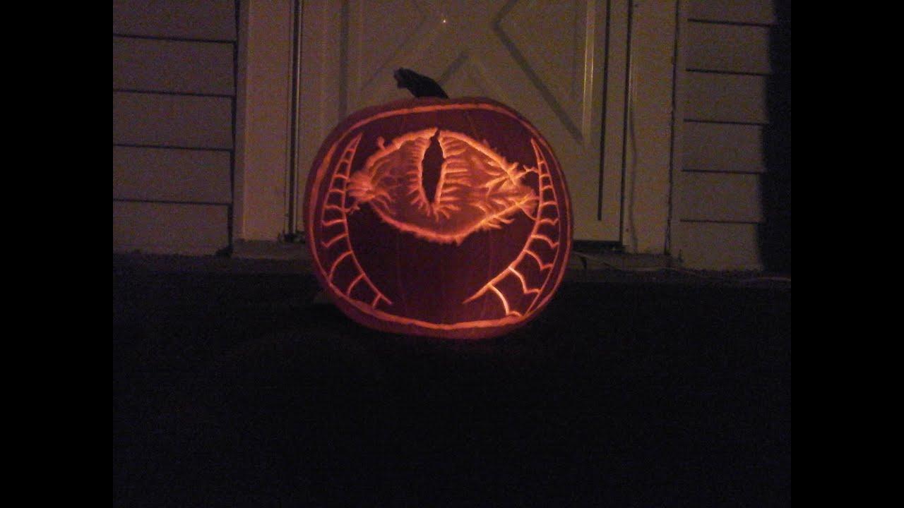 pumpkin carving  eye of sauron