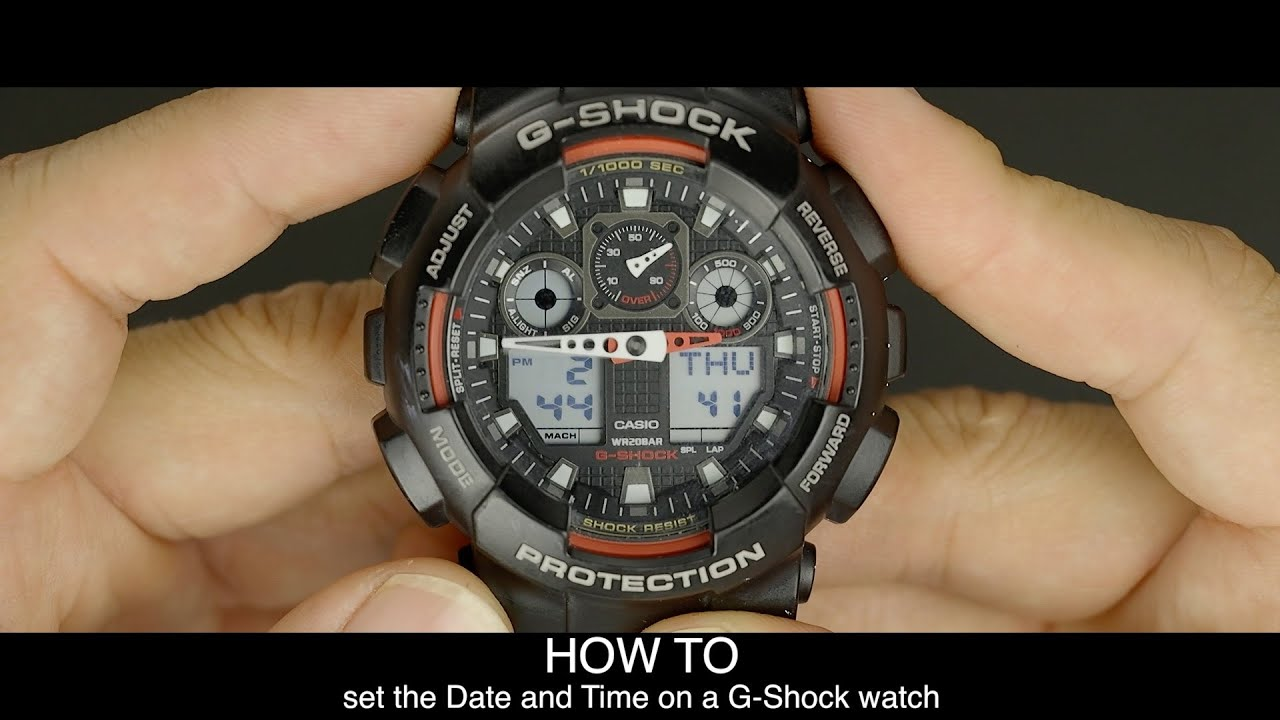 d1ba597910741 HOW TO set the date and time on a G-Shock watch - YouTube