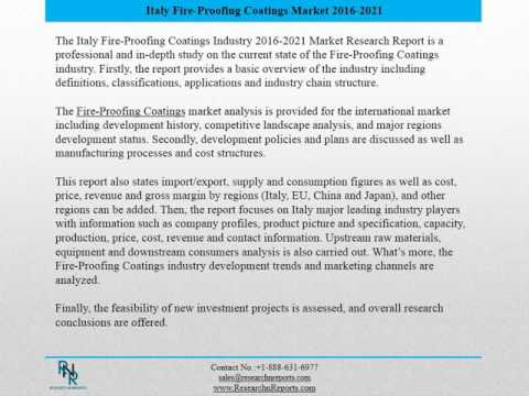 Italy Fire-Proofing Coatings Market Report 2016