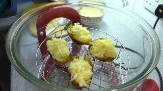 How to double (twice) bake jacket potatoes in the Halogen Oven. Soooooo tasty!!