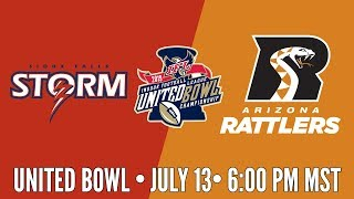 2019 United Bowl | Sioux Falls Storm at Arizona Rattlers (Rattlers Audio) thumbnail