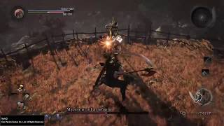 Nioh PS4 - босс Мунэсигэ Татибана, дуэль. Без комментариев.