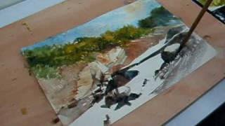 Watercolor Painting Demonstration--Stream
