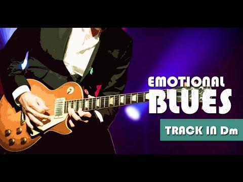 Slow Emotional Minor Blues Guitar Backing Track Jam In Dm
