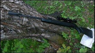 Пневматическая винтовка Gamo CFX усиленная Стрельба по бутылкам с 75 метров