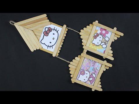Cara Mudah Membuat Miniatur Rumah Dari Stik Es Krim.
